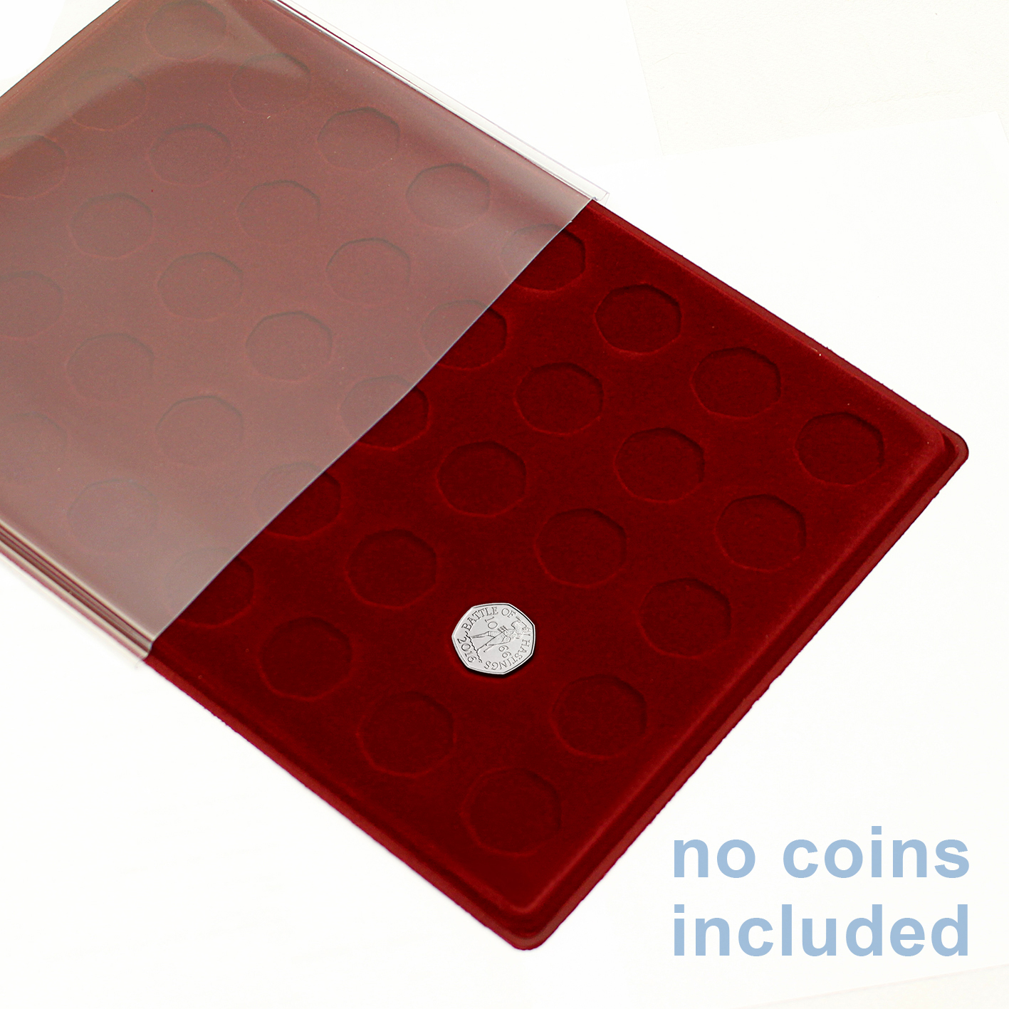 Schulz Red Coin Tray P50p For 50 Pence Coin 40